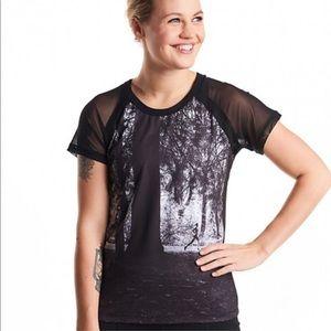 [Oiselle] Gallery Window T-Shirt -10- Black